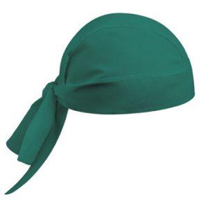 Bandana verde da chirurgo Ego Chef 100% cotone.