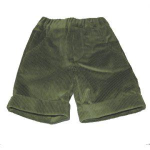 bermuda di velluto verde scout