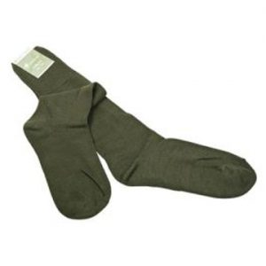 calza lana verde da caccia