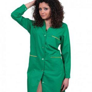 Camice donna bicolore verde tcd