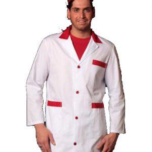 camice uomo bicolore bianco e rosso