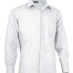 camicia bianca uomo manica lunga