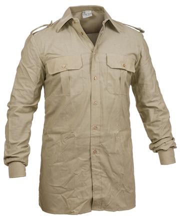 camicia color cachi