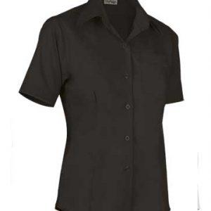 camicia donna nera mezza manica