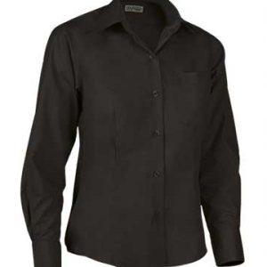 camicia nera donna manica lunga