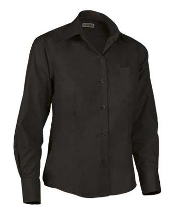 huge discount cc3f6 f33ff Camicia nera donna manica lunga