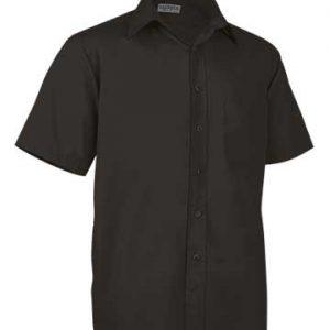 camicia nera uomo manica corta