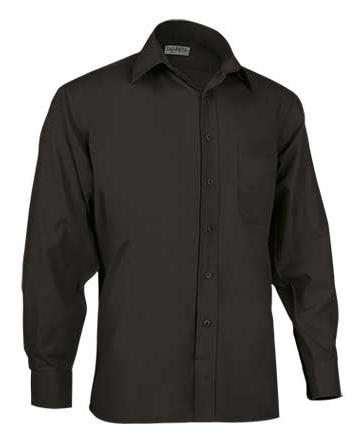 camicia nera uomo manica lunga