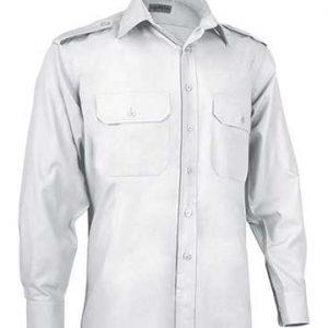 camicia pilota bianca