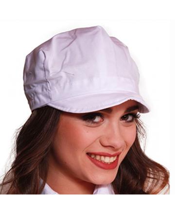 cappellino bianco visiera unisex