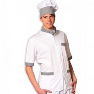 casacca chef zip cucina tcd