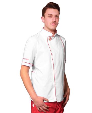 casacca-pizzaiolo bianca profilo rosso tcd