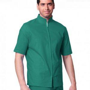 completo verde con zip unisex mezza manica