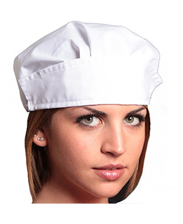 cuffia donna bianca cotone ego chef