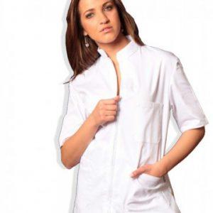 divisa-completa-zip-unisex bianca