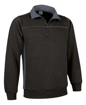 felpa bicolore nero grigio