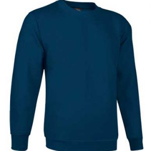 Felpa girocollo blu realizzato in 65% cotone e 35% poliestere.