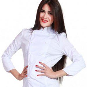 Giacca cake designer donna TCD con bottoni funghetto ad estrazione rapida.