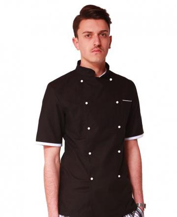 giacca-chef-manica-corta nera