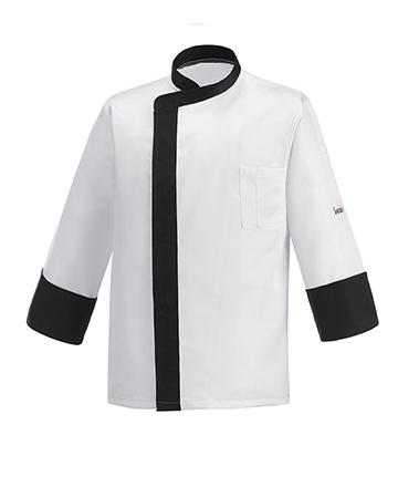 giacca cuoco band nera ego chef