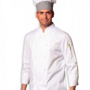 giacca cuoco bianca cotone manica lunga