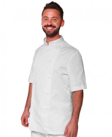 giacca cuoco bianca mezza manica