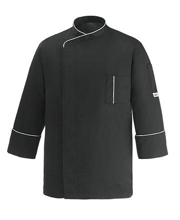 giacca cuoco cesare nera ego chef