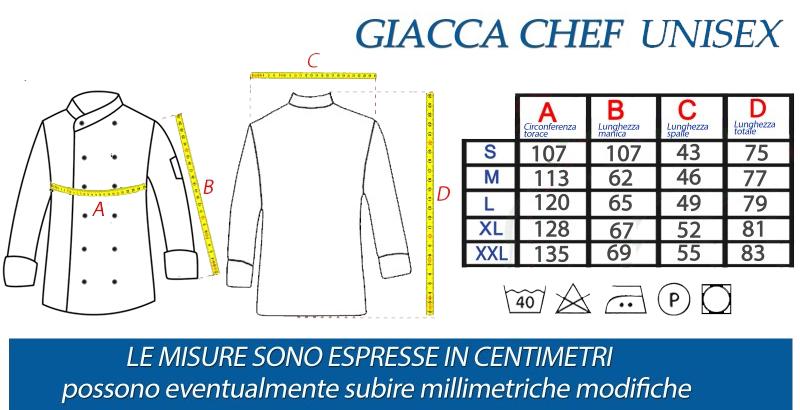 giacca cuoco manica lunga tcd modello