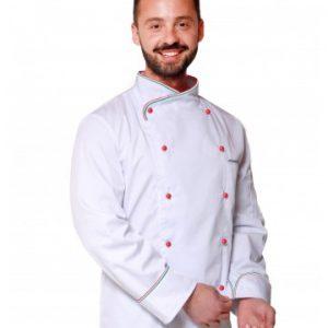 giacca cuoco modello italia bianca
