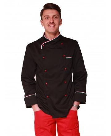 giacca cuoco modello italia nera