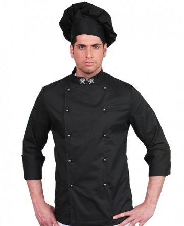 giacca cuoco unisex nera
