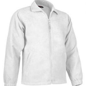 giacca in pile con zip intera Valento bianco 100% poliestere.