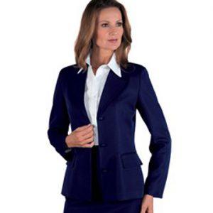 Giacca donna blu Portland Isacco ideale per settore alberghiero e personale di sala.