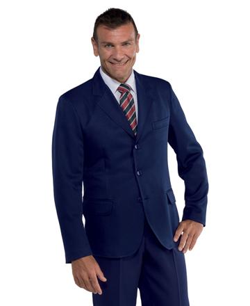 giacca uomo blu 3 bottoni isacco