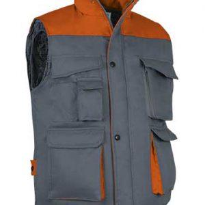 gilet bicolore grigio arancio