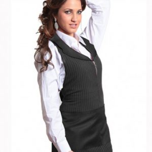 grembiule-donna zip gessato nero