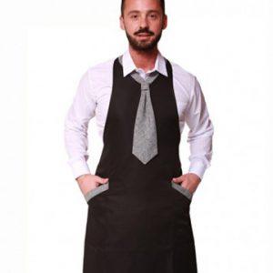 grembiule uomo con cravattino