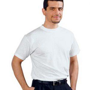 Maglietta bianca unisex 100% cotone