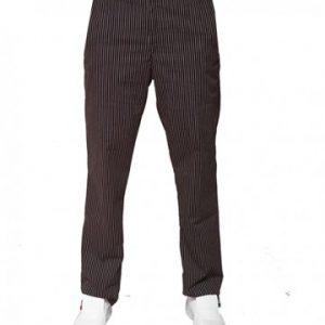 pantalone chef elastico gessato