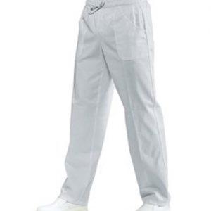 Pantalone con elastico uomo donna Isacco bianco