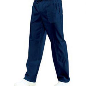 Pantalone con elastico uomo donna Isacco blu