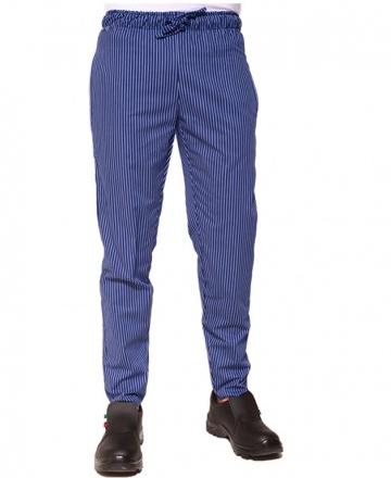 pantalone cuoco elastico gessato royal
