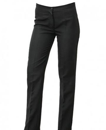 Pantalone nero donna 100% poliestere modello classico.