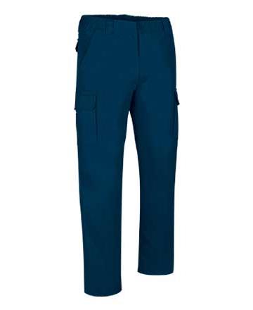 pantaloni blu multitasche