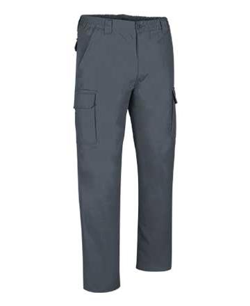 pantaloni grigi multitasche