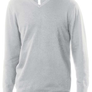 pullover grigio unisex collo v