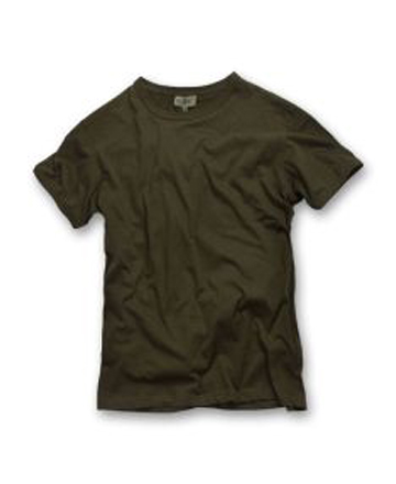 T-shirt verde oliva modello classico 100% cotone.