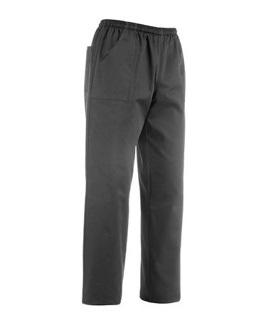 Pantaloni coulisse black egochef misure dalla S alla 4XL. Composizione: 65% cotone - 35% poliestere