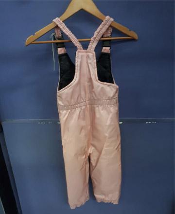 Salopette Bimbo rosa retro