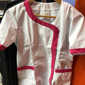 casacca estetista bianco glicine